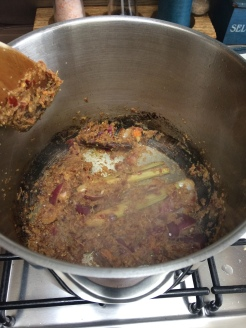 Spice paste cooking