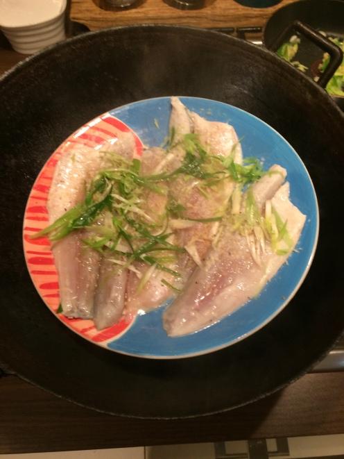 Raw seabass fillets
